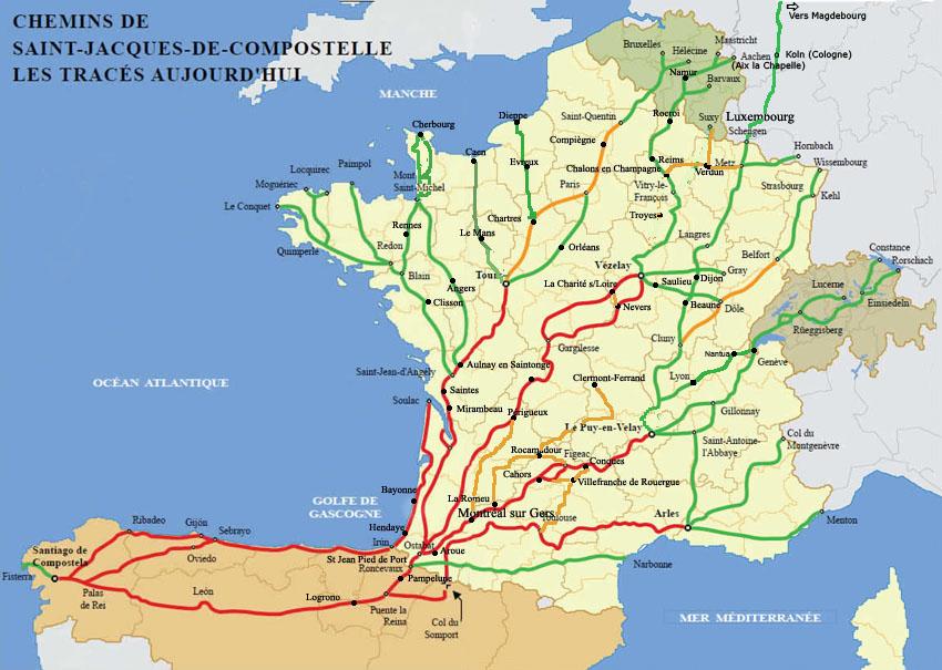 Carte interactive - Office du tourisme saint jacques de compostelle ...
